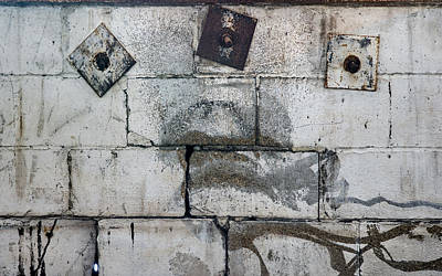 Photograph - Wall Markings by KM Corcoran
