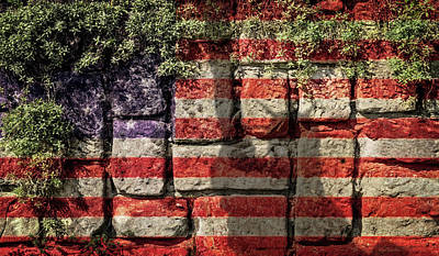 Wall Of Liberty Print by Wim Lanclus