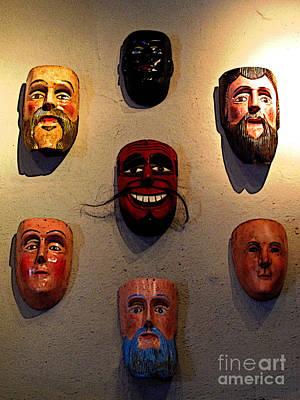 Patzcuaro Photograph - Wall Of Masks 2 by Mexicolors Art Photography