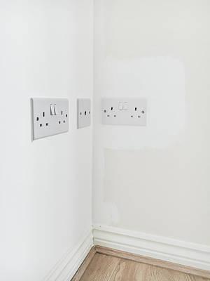 Wall Plugs Print by Tom Gowanlock