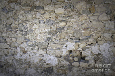 Old Stone Photograph - Wall Surface At Kales Fort In Lerapetra by Antony McAulay