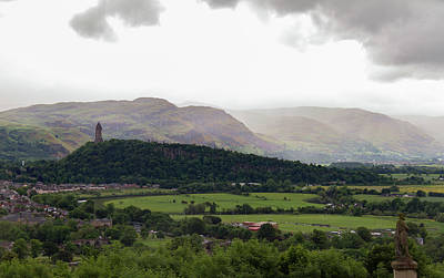 Old Photograph - Wallace Monument Dominating The Scottish Landscape by Iordanis Pallikaras