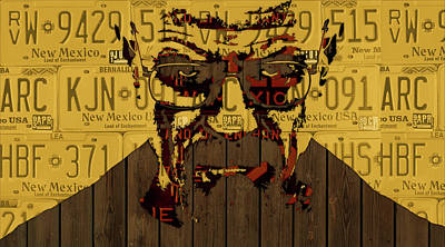 New Mexico Mixed Media - Walter White Breaking Bad New Mexico License Plate Art by Design Turnpike