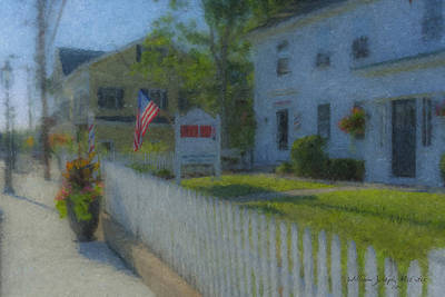Mcentee Painting - Walter's Barber Shop by Bill McEntee
