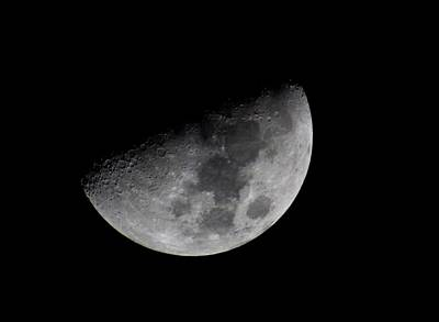 Science Photograph - Waning Moon by L L