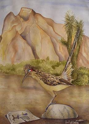 Road Runner Painting - Wanted by David Kelly