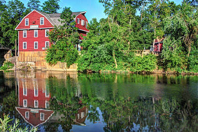 War Eagle Mill On The River - Northwest Arkansas Print by Gregory Ballos