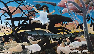 Apocalypse Painting - War by Henri Rousseau