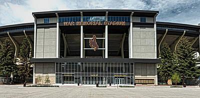 War Memorial Stadium - University Of Wyoming Print by Mountain Dreams