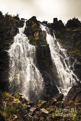 Waratah Water Falls In Tasmania Australia Print by Jorgo Photography - Wall Art Gallery