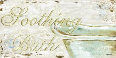 Soap Painting - Warm Bath 1 by Debbie DeWitt