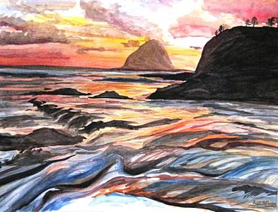 Openness Painting - Warm Rocks by Jessica Aaron