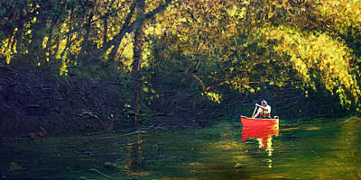 Cumberland River Painting - Warm Summer Shade by Bill Brown