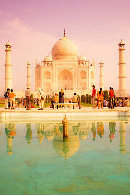 Indian Photograph - Warm Taj by Nila Newsom