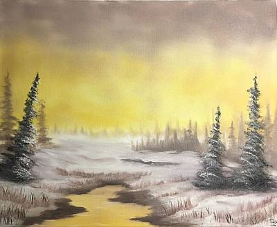 Bob Ross Painting - Warmer Winters by Ethan Danner