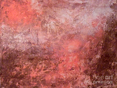 Abstract Handbag Painting - Warmth by Jilian Cramb - AMothersFineArt