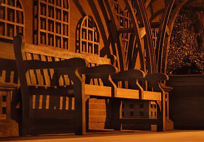Walkway Digital Art - Warmth Of A London Bench by Mike McGlothlen