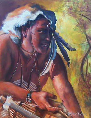 Chatham Painting - Warrior Of The Gate by Karen Kennedy Chatham