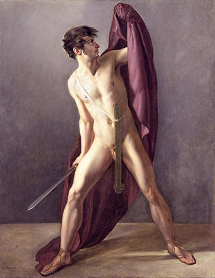 Painting - Warrior With Drawn Sword by Jean-Eugene-Charles Alberti