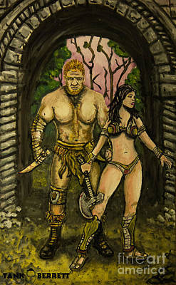 Loin-cloth Painting - Warriors Passion by Tank Berrett