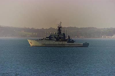 Sailboat Photograph - Warship by Martin Newman