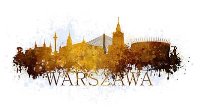 Old Town Digital Art - Warszawa Poland by Jaroslaw Blaminsky