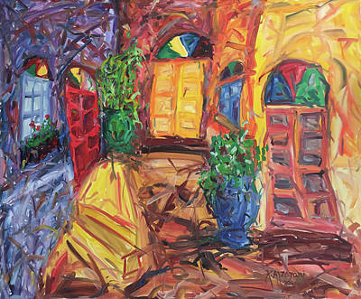 Neighbourhoods Painting - Was Our Neighbourhood by Khalid Alzayani