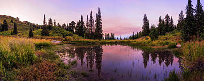Water Reflections Photograph - Wasatch Back by Chad Dutson