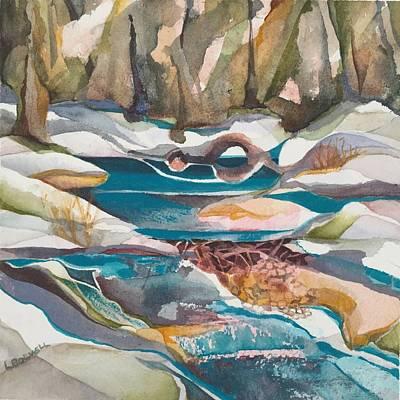 Wasatch Beaver Dam Print by Lynne Bolwell