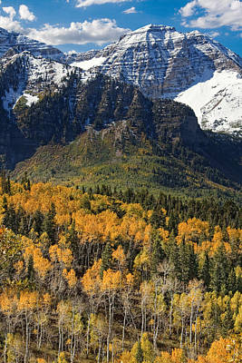 Crag Photograph - Wasatch Mountains Autumn by Utah Images