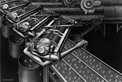 Boris Drawing - Wash Day by Boris Artzybasheff