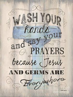 Wash Your Hands Print by Debbie DeWitt