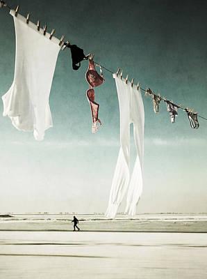 Washday Print by Manuela Deigert