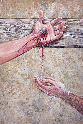 Acrylic Painting - Washed In The Blood by Aaron Spong