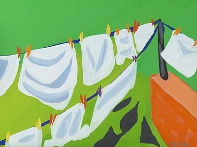 Washing Line Print by Sarah Gillard