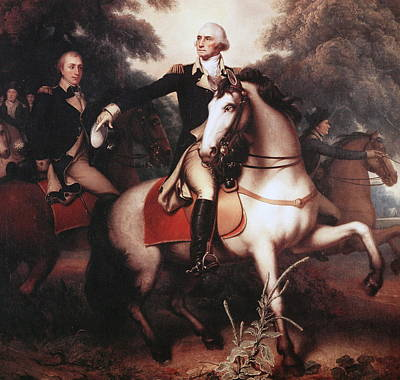 Horseback Painting - Washington Before Yorktown by Rembrandt Peale