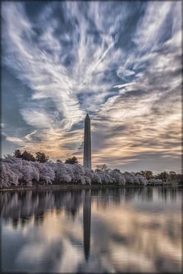 Washington Monument Photograph - Washington Blossom Sunrise by Erika Fawcett