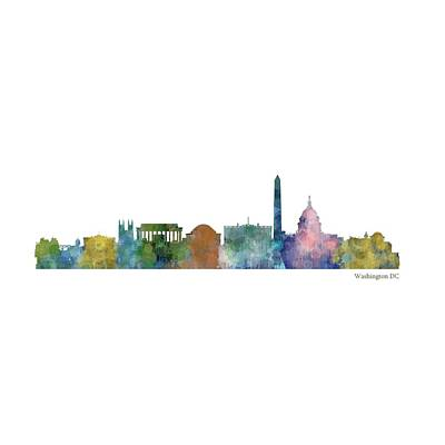 City Painting - Washington City Skyline 1 by HQ Photo