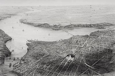Washington Dc Drawing - Washington Dc And Its Vicinity In Civil by Vintage Design Pics