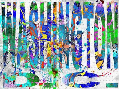 Washington D.c Mixed Media - Washington D.c. Map Grunge by Daniel Janda