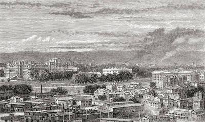 Washington D.c Drawing - Washington, D.c., United States Of by Vintage Design Pics