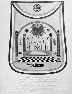 Washington: Masonic Apron Print by Granger