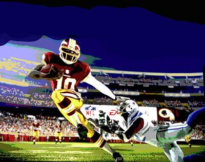 Redskins Mixed Media - Washington Redskins by Charles Shoup