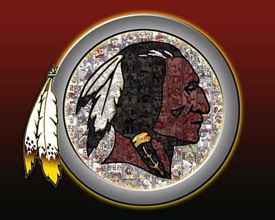 Washington Redskins Print by Fairchild Art Studio