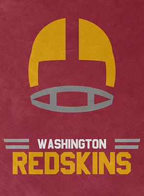 Redskins Mixed Media - Washington Redskins Vintage Art by Joe Hamilton