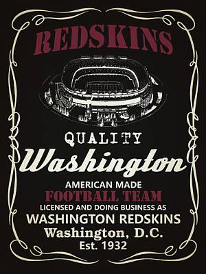 Redskins Mixed Media - Washington Redskins Whiskey by Joe Hamilton