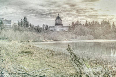 Sky Photograph - Washington State Capitol by Jean OKeeffe Macro Abundance Art
