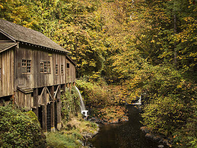 Washington State Grist Mill By Jean Noren Print by Jean Noren