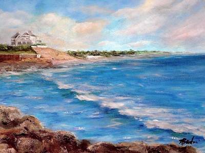Taylor Swift Painting - Watch Hill Beach by Anne Barberi