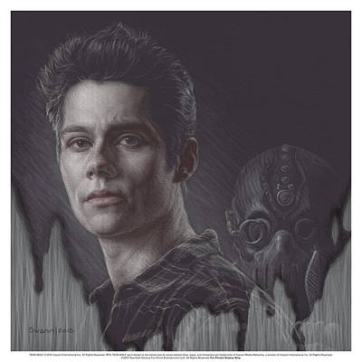 Actors Drawing - Watch Your Back Stiles by Swann Smith